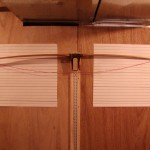 Red oak board bow unbraced