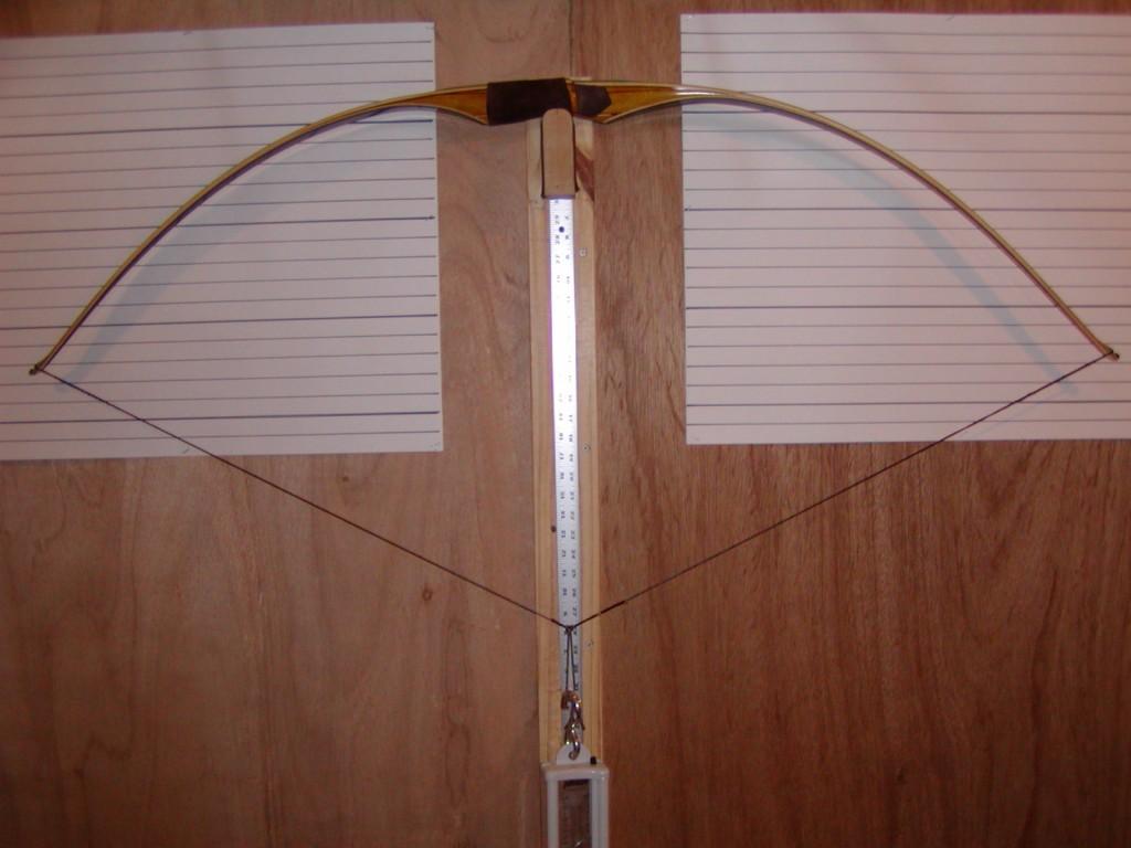 Osage reflex deflex bow at full draw