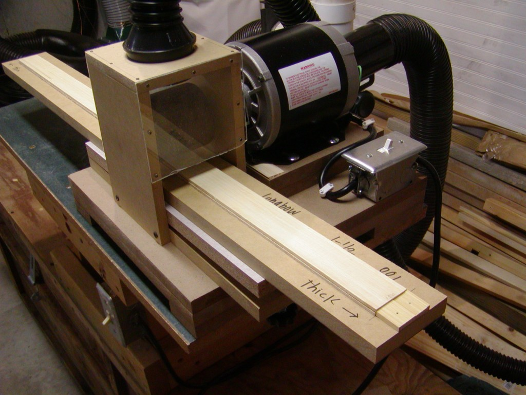 running the sander – Build Your Own Bow